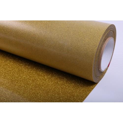 TERMOADESIVO POLI-FLEX IMAGE GLITTER PEARL GOLD 0.50x25mt