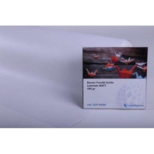 BANNER FRONTLIT SURFER LAMINATO MATT. 1.10x50mt gr.440 Ø76