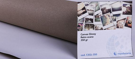 canvas Bianco Glossy Retro avana