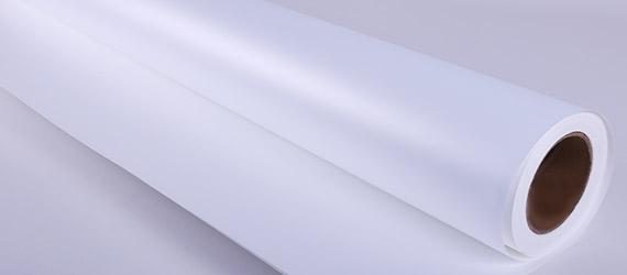 Roll Up in PET White/White Satinato - supporti per Roll -Up - Supporti Stampa ecosolvente - mondocarta