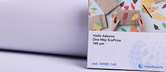 Vinile Polimerico Microforato One-Way Eco-Price - supporti stampa ecosolvente - vinile adesivo - polimerico microforato - mondocarta