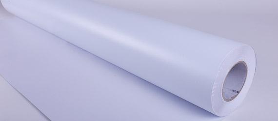 PVC Monomerico Bianco Glossy - vinili monomerici - colla grigia - vinili adesivi - supporti stampa ecosolvente - mondocarta