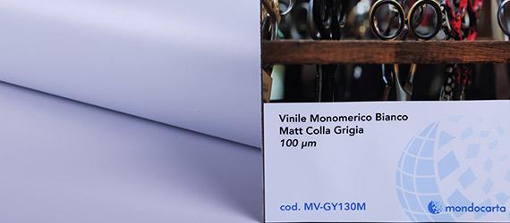Vinile Monomerico Bianco Matt. Colla Grigia