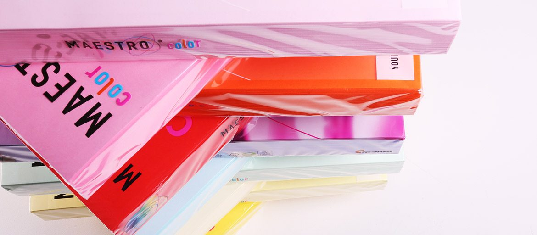 Risme di Carta colorata - Maestro- Mondocarta - IQ color Maestro - carte usomano colorate