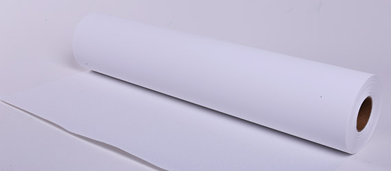 Canvas Tessuto PET Bianco Matt. Retro Bianco - Supporti stampa ecosolvente - tessuti in Poliestere - Canvas in PET - mondocarta