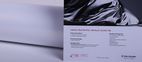 "True Photo Metallic Glossy ""H29110"""" - carte fotografiche - RAG Photo - supporti stampa pigmento - serie true photo Felix Schoeller - mondocarta"