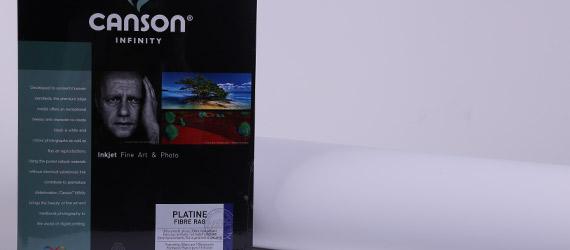 Canson Infinity Platine Fibre Rag Satin - supporti stampa a pigmento - carte fotografiche Canson - carte fotografiche RAG - Canson Platine infinity - mondocarta