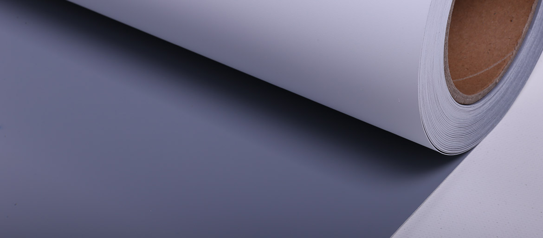 Roll -Up in PET Bianco Matt. Retro Grigio - supporti stampa ecosolvente - supporti display PET - Roll-Up in Poliestere - mondocarta