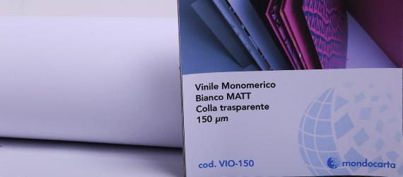 Vinile Monomerico Bianco Matt. / Colla Trasparente