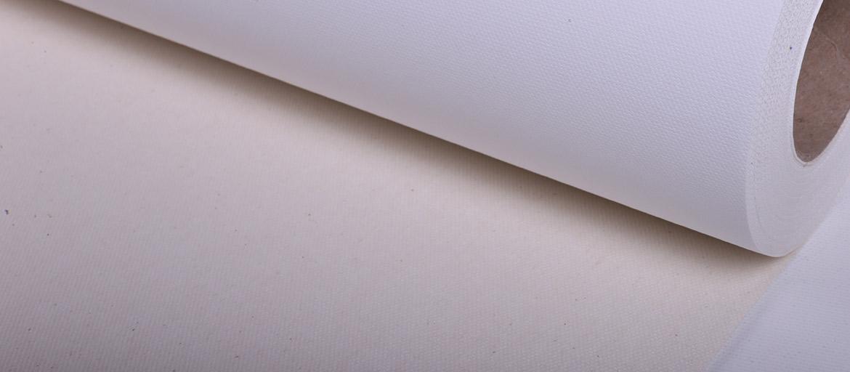 Canvas Tessuto Cotone Bianco Matt. Retro Naturale - supporti stampa a pigmento - Canvas Cotone inkjet - tessuti in Cotone - tele Pittoriche - mondocarta